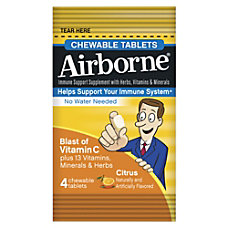 Airborne Immune Support Chewable Tablets Citrus