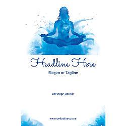 Custom Vertical Poster Meditation