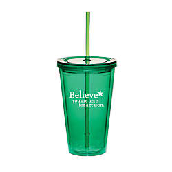Believe Twist Top Tumbler Believe Reason