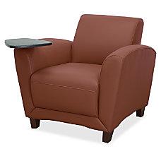 Lorell Reception Seating Black Mahogany Tan