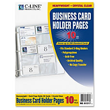 C Line Business Card Refill Pages