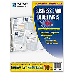 C Line Business Card Holders Without