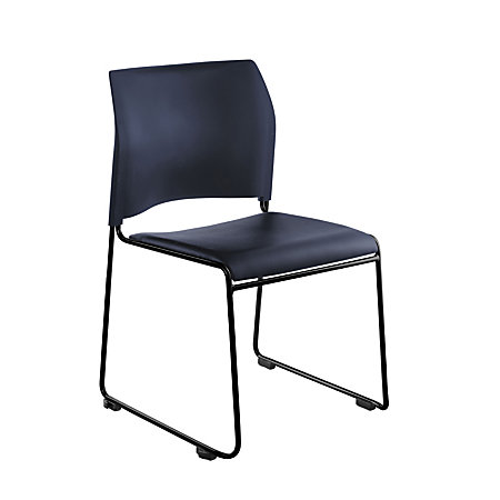 National Public Seating The Cafetorium Stackable Chairs BlueChrome Set Of 4 B