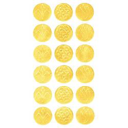 Geographics Gold Embossed Seals 125 Diameter