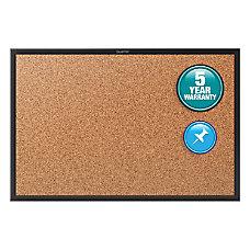 quartet cork bulletin board 24 height bulletin board