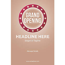 Custom Vertical Poster Retro Grand Opening
