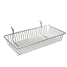 Azar Displays Chrome Wire Baskets 5