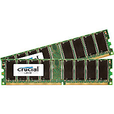 Crucial 1GB Kit 512MBx2 184 pin