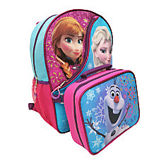 Disney Girls Backpack With Lunch Box