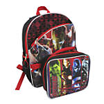 MARVEL Girls Backpack With Lunch Box