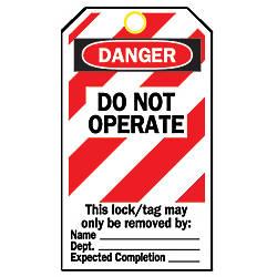 Brady Lockout Tags Danger Do Not