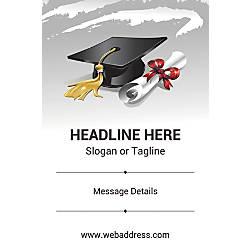 Custom Vertical Poster Graduation Hat And