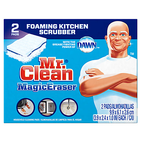 mr clean magic erasers kitchen scrubbers with dawn pack of 2 by office depot officemax. Black Bedroom Furniture Sets. Home Design Ideas