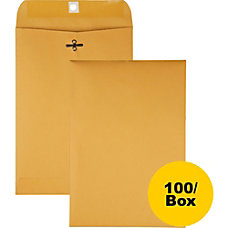 Quality Park Gummed Kraft Clasp Envelopes