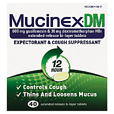 MUCINEX DM Expectorant Cough Suppressant Extended