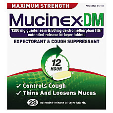 MUCINEX DM Max Strength Extended Release