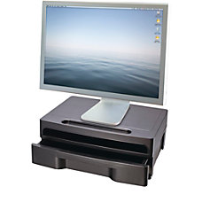 OIC Monitor Stand With Drawer Black