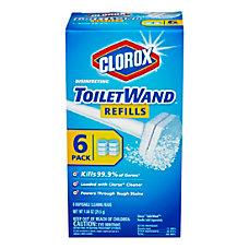 Clorox Toilet Wand Refill Heads BlueWhite