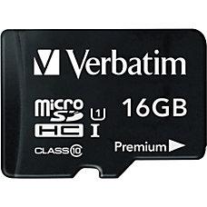 Verbatim 16GB Premium microSDHC Memory Card
