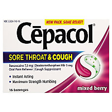 Cepacol Sore Throat and Cough Lozenges