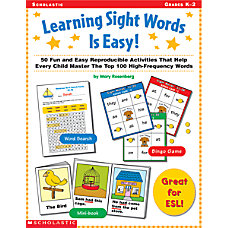 Scholastic Learning Sight Words Is Easy