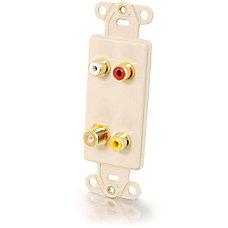 C2G Decora Style Gold Triple RCASingle