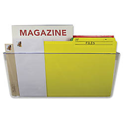 Storex Magnetic Wall File Pockets 500