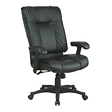 Office Star High Back Leather Chair