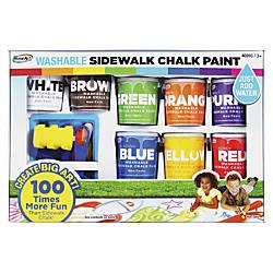RoseArt Washable Sidewalk Chalk Paint Set