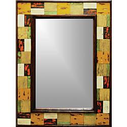 PTM Images Framed Mirror Brickwork Wood