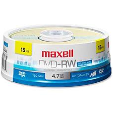Maxell 2x DVD RW Media 120mm