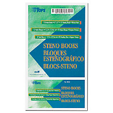 TOPS Steno Books 6 x 9