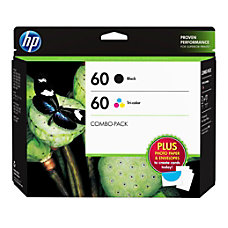 HP 60 BlackTricolor Original Ink Cartridges