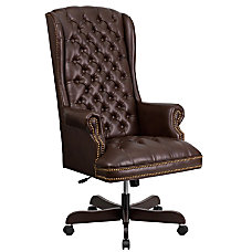 Flash Furniture Traditional Tufted Leather High