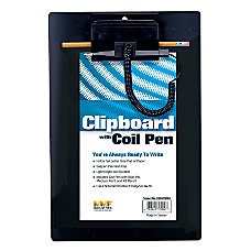 MMF Industries Plastic Clipboard With Coil