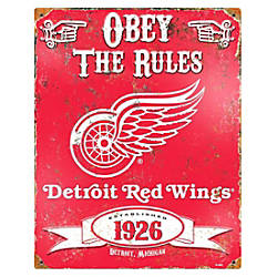 Party Animal Detroit Red Wings Embossed