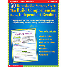 Scholastic 50 Reproducible Strategy Sheets That