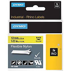 Dymo Rhino Flexible Nylon Labels 050