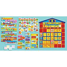 Scholastic School House Calendar Bulletin Board