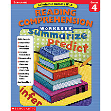Scholastic Reading Comprehension Workbook Grade 4