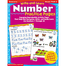 Scholastic Write And Learn Number Practice