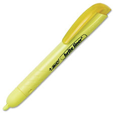 BIC Retractable Highlighters Chisel Point Style