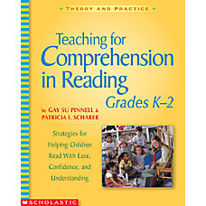 Scholastic Teaching For Comprehension In Reading