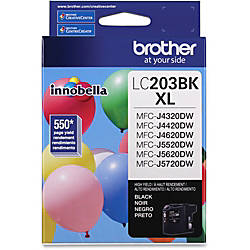 Brother Genuine Innobella LC203BK High Yield