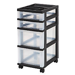 IRIS 4 Drawer Plastic Rolling Storage