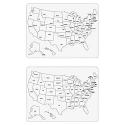 ChenilleKraft Large USA Map Whiteboard United