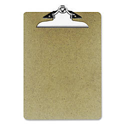 OIC 100percent Recycled Hardboard Clipboard Letter