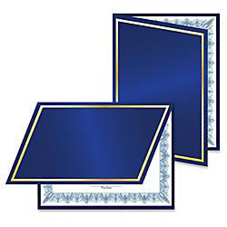 Geographics Felt Certificate Holder Navy Navy