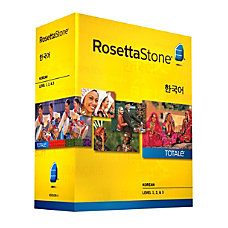 Rosetta Stone Korean Version 4 Levels