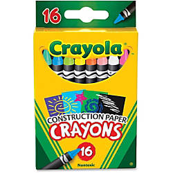 Crayola 16 Construction Paper Crayons Assorted